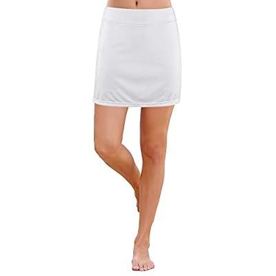 ANIVIVO White Tennis Skorts for Women,Women Tennis Clothing Running Skirts Active Skorts(White,S)