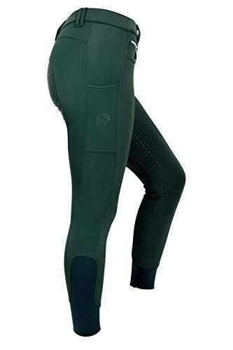 RidersDeal Collection Winterreithose Softshell mit Silikonvollbesatz für Damen, versch. Farben, Gr. 32-50, dark green, 34