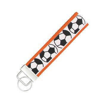 Fußball-Schlüsselanhänger, Fußball-Geschenk, Fußball-Armband, Orange