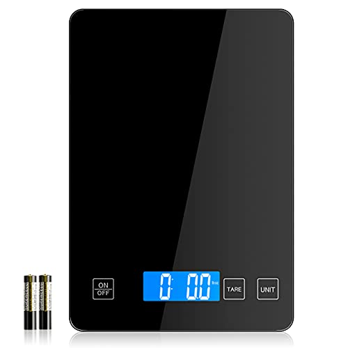Nicewell Food Scale Digital Weight Grams and oz, 22lb Kitchen Scale for Cooking Baking, 1g/0.1oz Precise Graduation, Sleek Tempered Glass Platform