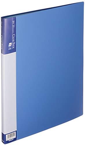 ナカバヤシ クリアブック クリアファイル E B4 20ポケット ブルー CBE-1022B