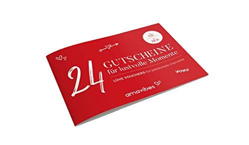 Premium Liebes-Gutscheinheft für Frauen: 24 Liebes-Gutscheine, Partner-Geschenk für Freundin, Partner <3 für mehr Spaß & Liebe - LIMITED EDITION Weihnachten rot