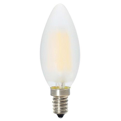 6er-Pack E14 Dimmbar LED Kerzenform Ersetzt 40W Glühlampen,Warmweiss 2700K, C35 4W, Matt Glas,360º Abstrahlwinkel LED Birnen, LED Kerzenlampen, LED Kerzenleuchten, LED Leuchtmitte - 2