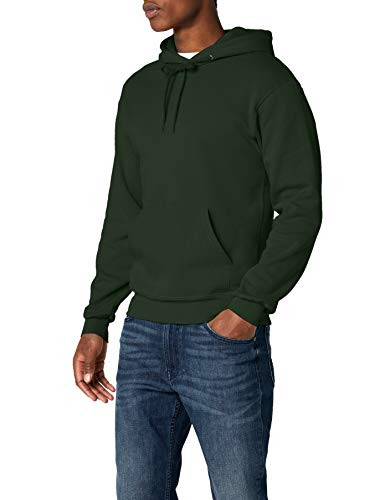Fruit of the Loom Hooded Sweat Felpa, Verde (Bottle Green), L Uomo