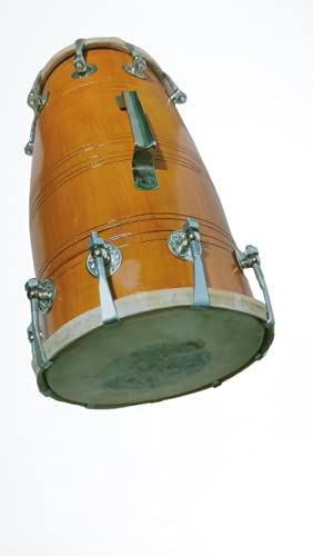G1, LIGHT BROWN DHOLAK FOR HOME PURPOSE, PUJA AND FUNCTION
