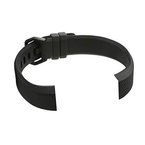 For Fitbit Alta HR - Small Size Soft Silicone Wrist Band Strap - Black LATT LIV