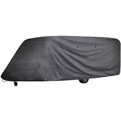 Festnight Wohnwagen Abdeckung Caravan Schutzdach Cover Schutzhülle 610 x 230 x 220 cm Laenge zwischen 5,18-6,09m