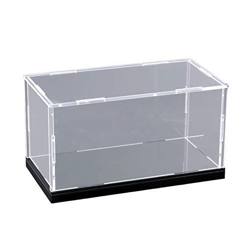 LM-Coat rack XINGLL Acrílico Vitrina Transparente, Cubo Transparente A Prueba Polvo, Caja Protección Juguetes Colecciones Figuras Escala, Base Negra Fácil Montaje, Personalizada