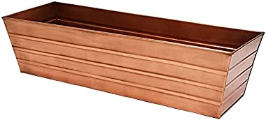 Oakestry Large Copper Plated Flower Box