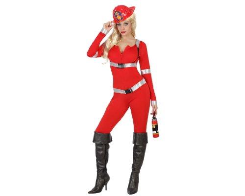 Atosa–22928–Disfraz–Disfraz de bombero sexy–Adulto–Tamaño 2