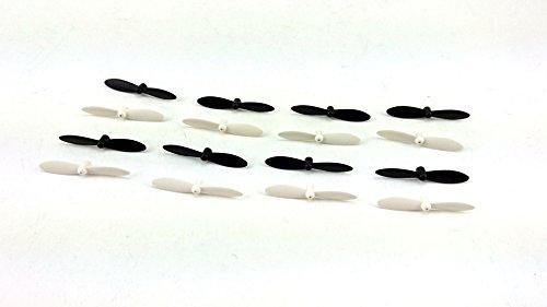 efaso Ersatzteil Nano Quad 23970/23971 - Rotorblätter Revell (weiß/schwarz) 4er Set