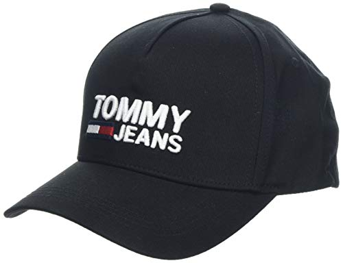 Tommy Hilfiger Herren TJM Logo Baseball Cap, Schwarz (Black 002), One Size (Herstellergröße:OS)