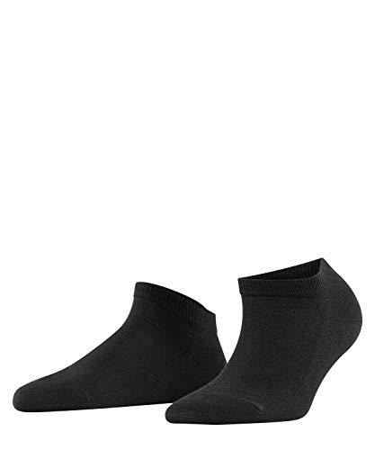 FALKE Women Family Trainer Socks - 94% Cotton, Black (Black 3009), UK 5.5-8 (Manufacturer size: 39-42), 1 Pair