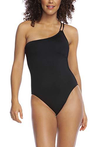 La Blanca Women's Island Goddess Shoulder Mio One Piece Swimsuit, Black, 14