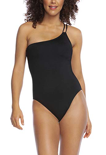 La Blanca Women's Island Goddess Shoulder Mio One Piece Swimsuit, Black, 0