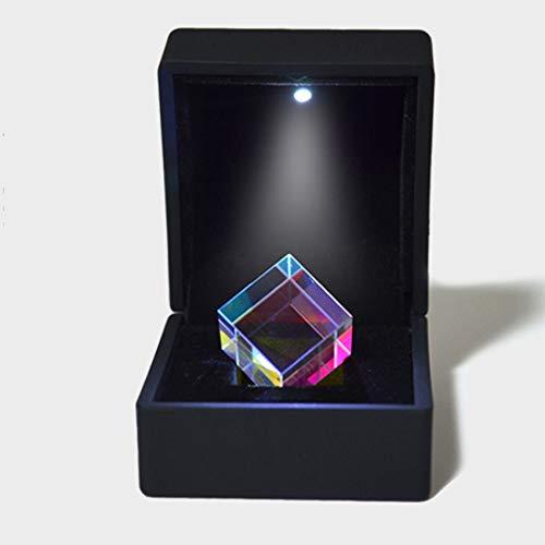 Quadratischer Würfel Prism Crystal Clear Prisma Optisches Glas für Wissenschaft Unterricht Physikalische Lektionen Fensterdekoration Lichtspektrum Sonnenlicht reflektieren Fotografie,23*23*23mm