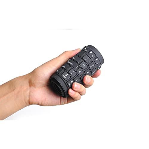 ブルートゥースの折りたたみシリコーンキーボード、防水ワイヤレスUSBの充電、ホームオフィスで持ち運びが簡単