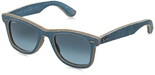 Ray-Ban RB2140 Occhiali da Sole, Blu (Denim Wayfarer), 164/4M 50 22 2N