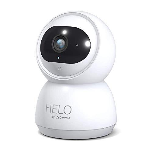 HELO by STRONG Überwachungskamera Indoor, (Full HD, lokaler Speicher bis zu 128 GB, Babyphone, Weitwinkel, 2 Wege Audio Bewegungserkennung, Nachtsicht, App Steuerung), weiß, Camera-W-IN