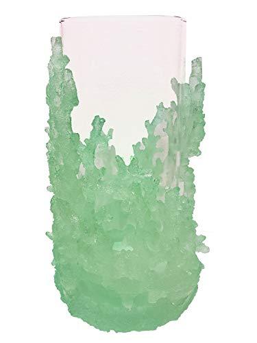 Clear Blue/Green Coral Hurricane Holder