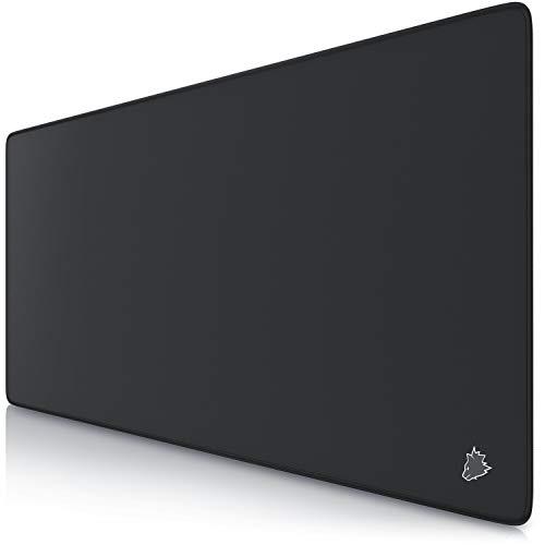 TITANWOLF - XXL Alfombrilla para ratón 900 x 400 mm - Speed Gaming Mousepad - Mouse Pad para Ordenador - Base para Mesa Grandes Dimensiones - Diseño Wolf Symbol