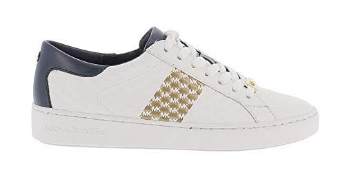 Michael Kors Zapatillas Deportivas Colby para Mujer Sneaker Combinadas Modelo 43S1COFS3L Color Blanco/Marino (406 Navy). (Numeric_39)