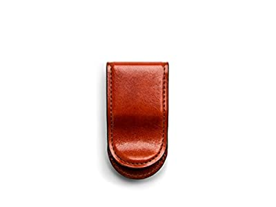 Bosca Old Leather Covered Money Clip (Cognac)