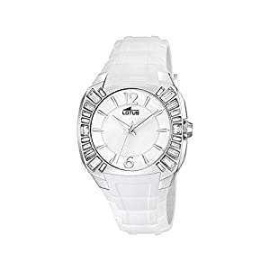 LOTUS Reloj Mujer Blanco con CIRCONITAS