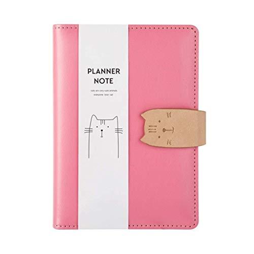aedouqhr Bloc de Notas Personalidad de la página del Cuaderno Pequeño, Fresco, Creativo Libro de Mano literario Cuaderno de Cuentas de Estudiante Bloc de Notas Simple (Color: Rosa, Tamaño: A7)