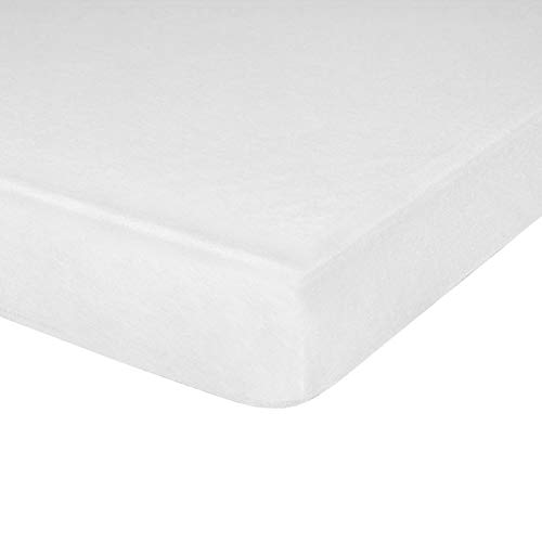 "IDEAhome Jersey Knit Fitted Cot Sheet, Soft Material, Suitable for Bunk Beds, Camping, RVs, Folding Beds, Boys & Girls, 75"" x 33"" with 8"" Pocket, White, 1 Pack"