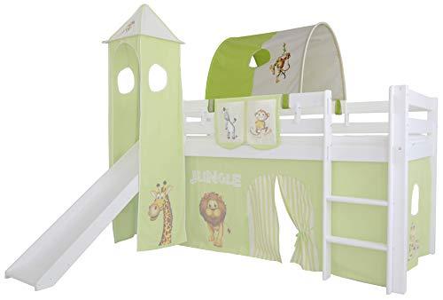 Mobi Furniture Tunnel Dschungel für Hochbett Höhle Etagenbett Spielbett Kinderbett Bettdach