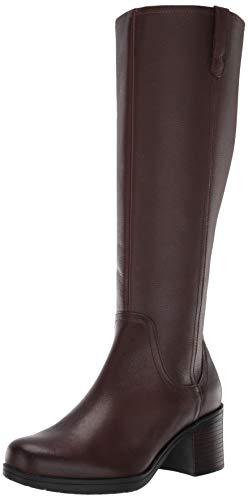 Clarks Women's Hollis Moon WS Knee High Boot, Mahogany Leather, 65 M US