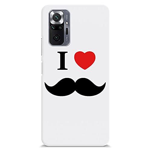 I love Moustache Redmi Note 10 Pro Cover for Boys Attitude