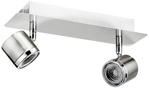Eglo 93694 Led-Balkenleuchte Modell Pierino /2, nickel matt / chrom