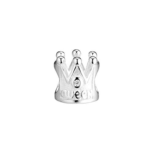 Pandora 925 Jewelry Bracelet Natural White Crown Charm Bead Charms Sterling Silver Beads For Women Diy Gift