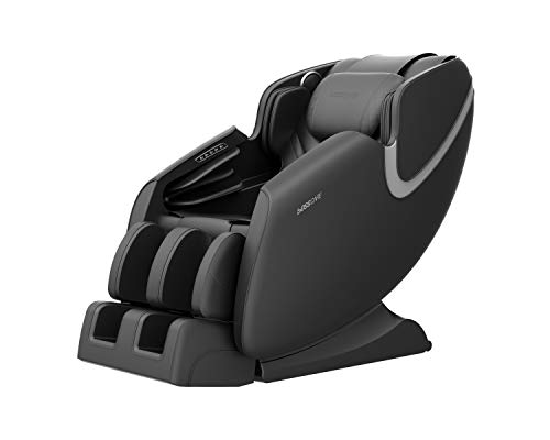 BOSSCARE Massage Chair Recliner with Zero Gravity Airbag Massage Bluetooth Speaker Foot Roller Black