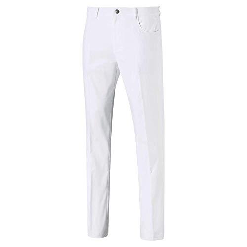 Puma Golf Men's 2019 Jackpot 5 Pocket Pant, Bright White, 28 x 32