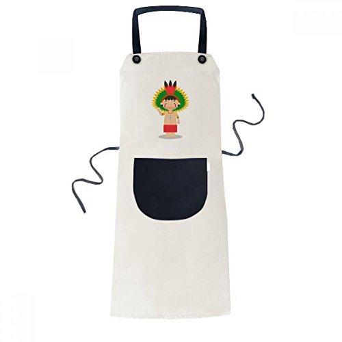 beatChong Amazon Roja Brasil Venezuela Historieta Que Cocina La Cocina De Color Beige Babero Ajustable Bolsillo Del Delantal De Regalo, Mujeres, Hombres Cocinero
