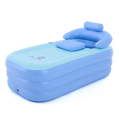 YUHT Piscine Gonflable Bathtub Baignoire Gonflable Adulte Pliante / 160x82x48cm / Matériau PVC/avec Pompe à air électrique/pour intérieur et extérieur