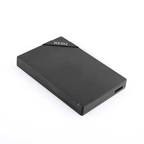 Gpan KESU 2TB Disco Duro Externo portátil USB 3.0 Almacenamiento de Datos y Respaldo Adecuado para PC Mac Negro,40GB