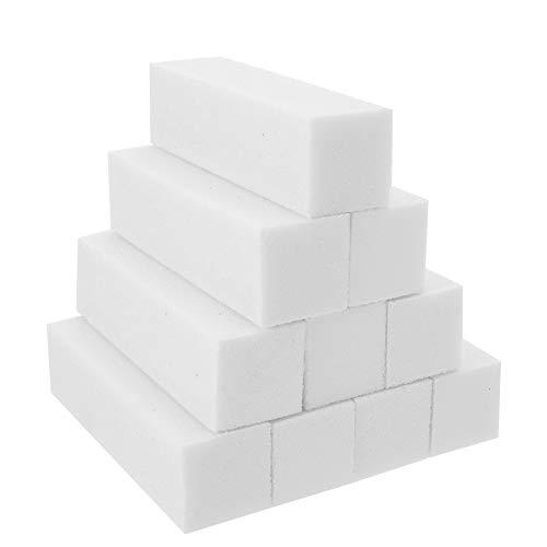 SUSSURRO 10 Stück Weiß Buffer Schleifblöcke Polierblock Buffer der neuen Generation Schwamm Nagelfeile Buffer Schleifblöcke Nagelfeile Maniküre Werkzeug