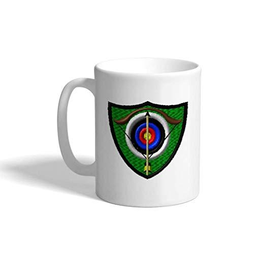Ceramic Funny Coffee Mug Coffee Cup Sport Archery Target White Tea Cup 11 Ounces