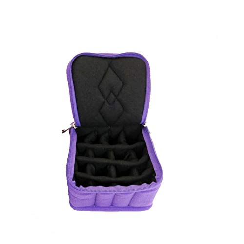Box Portable Organizer 30 Bouteilles Huile essentielle Housse de transport anti-choc pour le stockage Voyage Nail Polish Violet