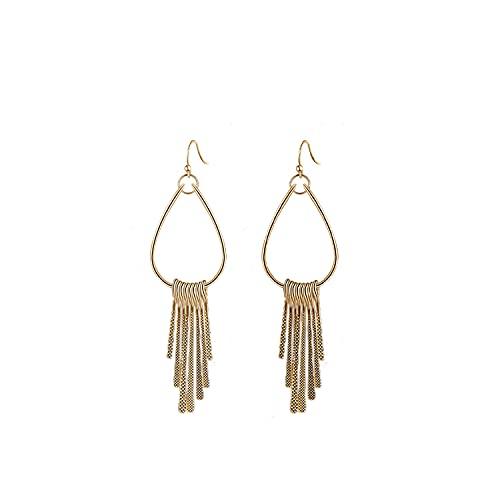 Pendientes WHA & DARREN, pendientes de aro, pendientes de borlas, pendientes colgantes, pendientes de moda para mujer-joyas chapadas en oro de 18K
