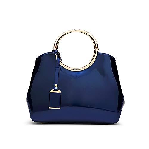 Vrouwen Patent Lederen Handtas Tote portemonnee glanzend licht goud Top handvat Satchel Bag
