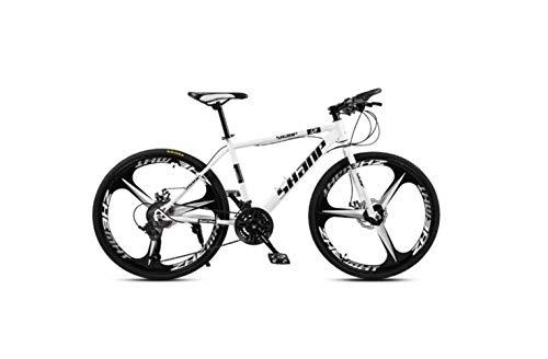 SEESEE.U Vélo de Montagne Adulte vélo de Montagne 26 Pouces Frein à Disque Double Une Roue 30 Vitesses vélo de Vitesse Hors Route Hommes et Femmes, E, A