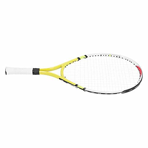Racchetta da tennis per bambini, racchetta da tennis per adolescenti per allenamento di tennis per bambini per risparmiare energia per lo strumento di allenamento perfetto per mantenere la(giallo)