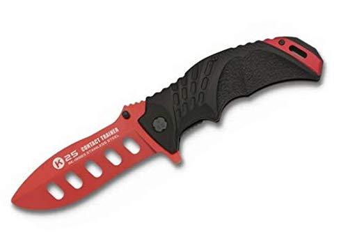 Bxf6ker Plus Unisex– Erwachsene Pocket Knife Trainer Trainingsmesser, Rot, 10,5 cm