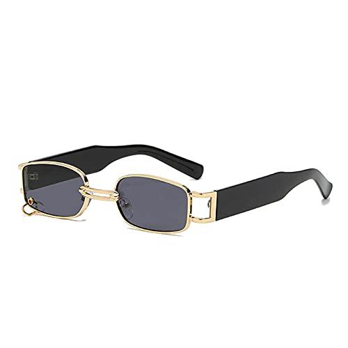 WANGZX Gafas De Sol Retro Pequeñas Rectangulares para Mujer, Gafas Punk De Metal, Gafas De Sol Cuadradas para Hombre Uv400, como En La Imagen