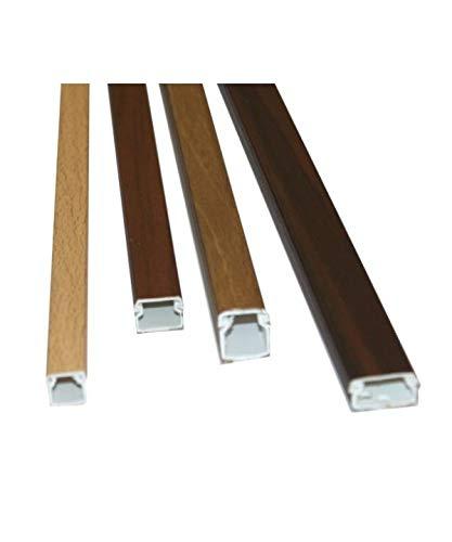 Canaleta adhesiva para cable eléctrico imitación madera de roble. Medidas 15x10x2000 mm